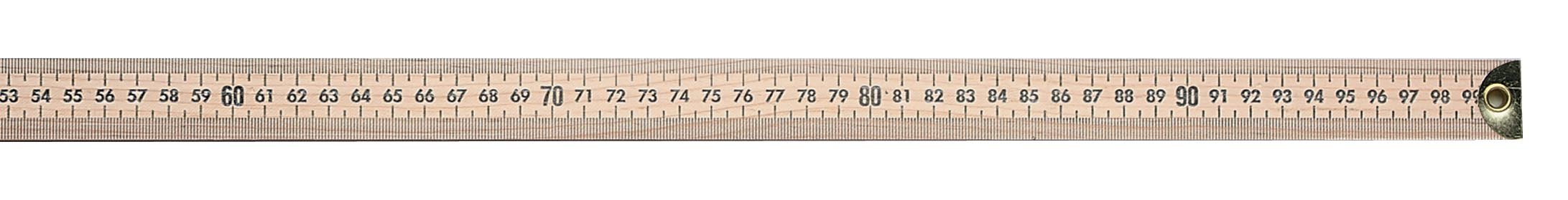 "Westcott Wooden Meter Stick With Brass Tips, 39 1/2"" (10432)"