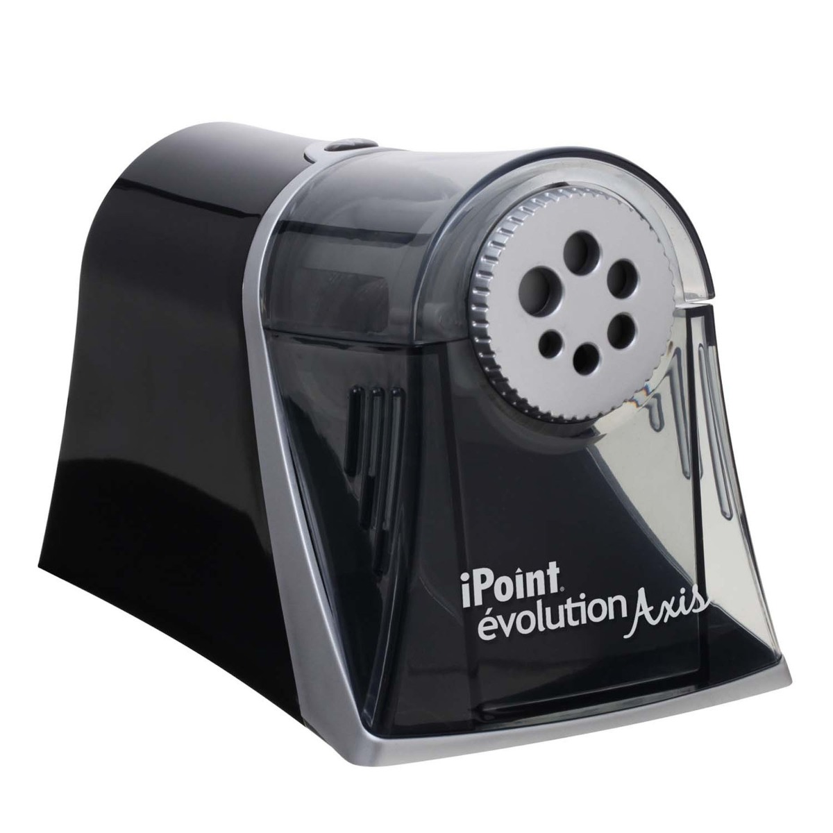 Westcott Electric iPoint Evolution Axis Heavy Duty Pencil Sharpener, Black and Silver (15509)