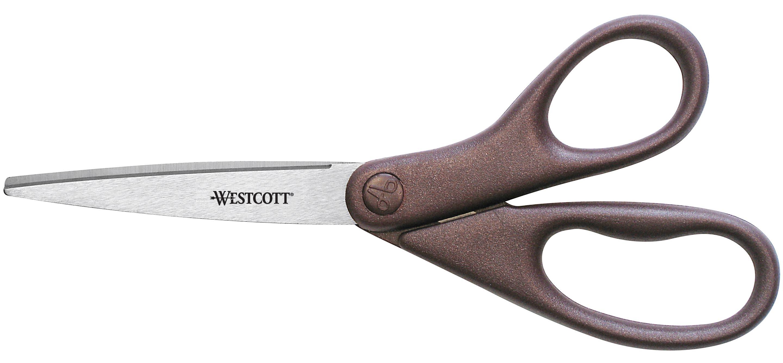 "Westcott All Purpose Design Line Stainless Steel Scissors, 8"" Straight, Metallic Burgandy (41511)"