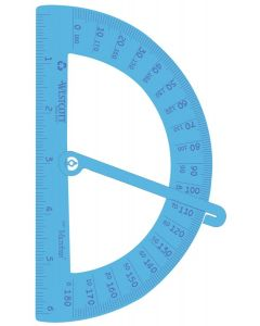 Westcott KleenEarth Recycled School Protractor, Anti-Microbial Protection (14976)