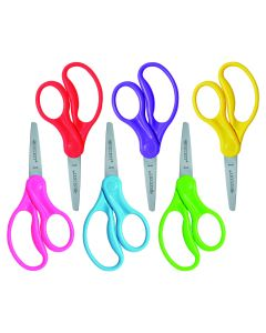 """Westcott School Left and Right Handed Kids 5"""" Scissors, Pointed, 6 Pack (16455)"""
