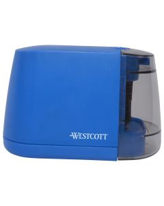 Westcott iPoint Duo™ Dual-Powered Battery/Electric Pencil Sharpener, Blue (17813)