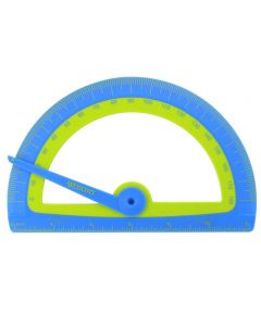 Westcott Kids Soft Touch School Protractor With Anti-Microbial Protection, Assorted Colors (14371)