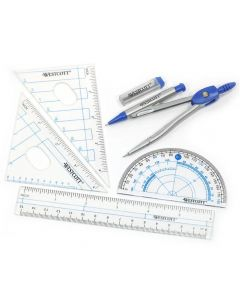 Westcott Six Piece Geometry Tool Kit With Pouch (14564)