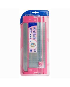 "Westcott 12"" TrimAir Titanium Bonded Cut and Score Blade Paper Trimmer, Pink (15163)"