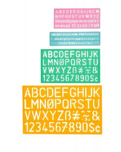 Westcott Letter Stenciling Guides (4 sizes) (02145)