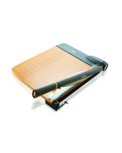 "Westcott ACM15106 TrimAir Titanium Bonded Wood Guillotine Paper Trimmer, 12"" (15106)"
