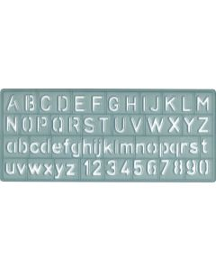 """Westcott Alphabet and Number Lettering Guide, 3/8"""" /10mm (KT-10)"""