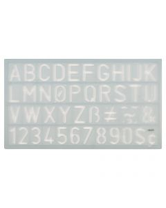 """Westcott Alphabet and Number Lettering Guide, 3/4"""" /18mm (KT-20)"""