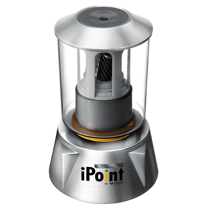 Westcott iPoint Home and Office Electric Pencil Sharpener, Silver (14202)