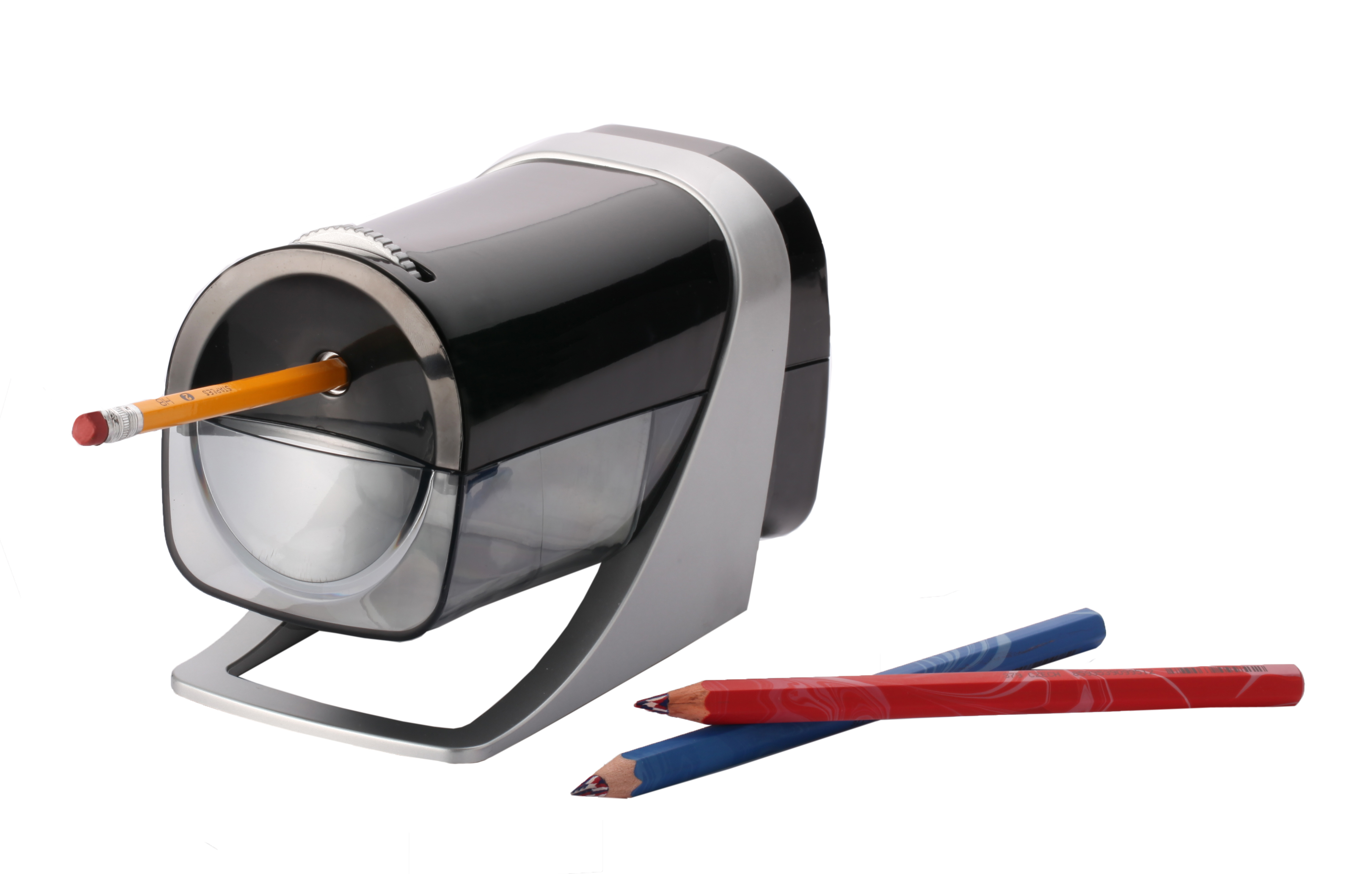 Westcott iPoint Curve Axis Electric Pencil Sharpener for School or Office (15511)