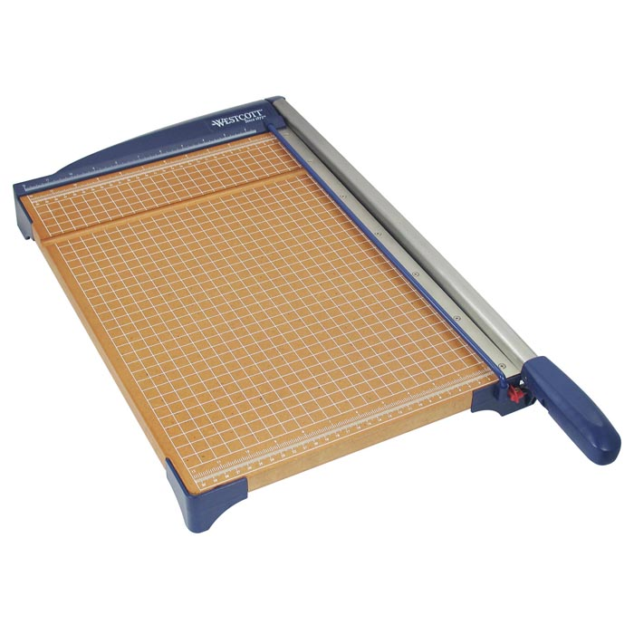 "Westcott Guillotine Paper Trimmer With Wood Base, 15"" (13778)"