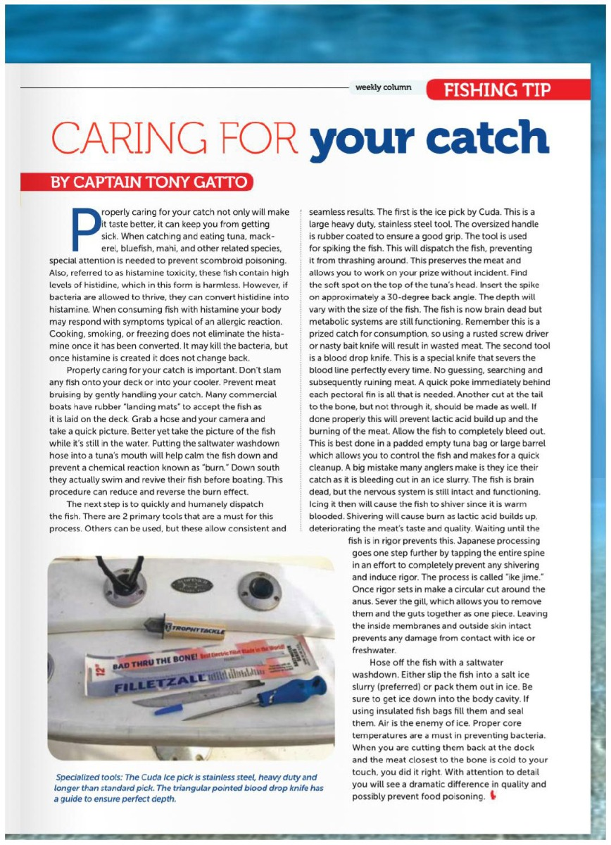 Caring for your catch