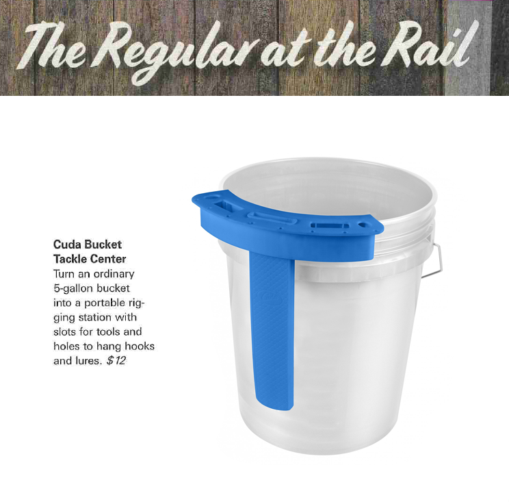 Cuda Bucket Tackle Center - Featured in The Regular at the Rail, Dec 2018