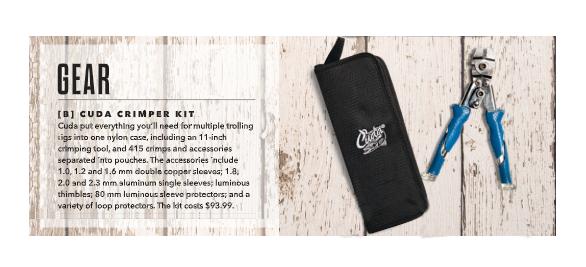 Cuda Crimper Kit: Featured in Sport Fishing Magazine, Dec 2018