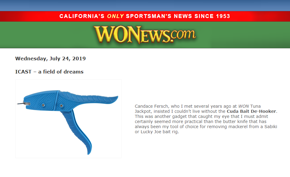 Cuda shout out for west coast - Featured in Wonews July 24, 2019