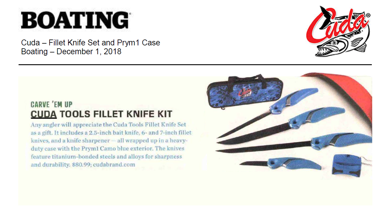 Cuda Tools Fillet Knife Kit - Featured in Boating Dec 1, 2018
