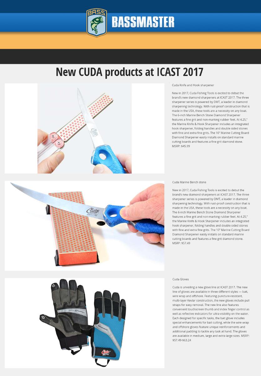 Cuda Products-ICAST sneak peek on bassmaster.com