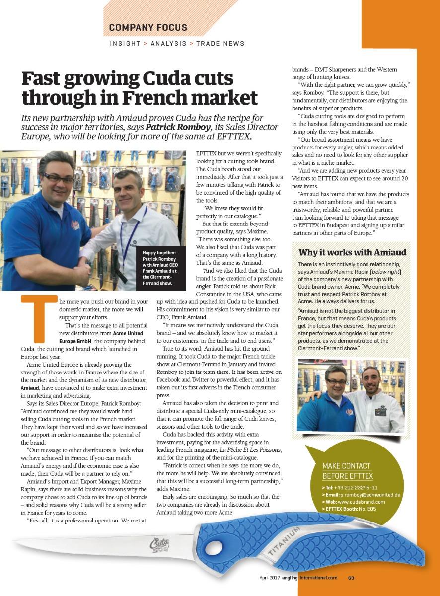 Fast growing Cuda cuts through in French Market