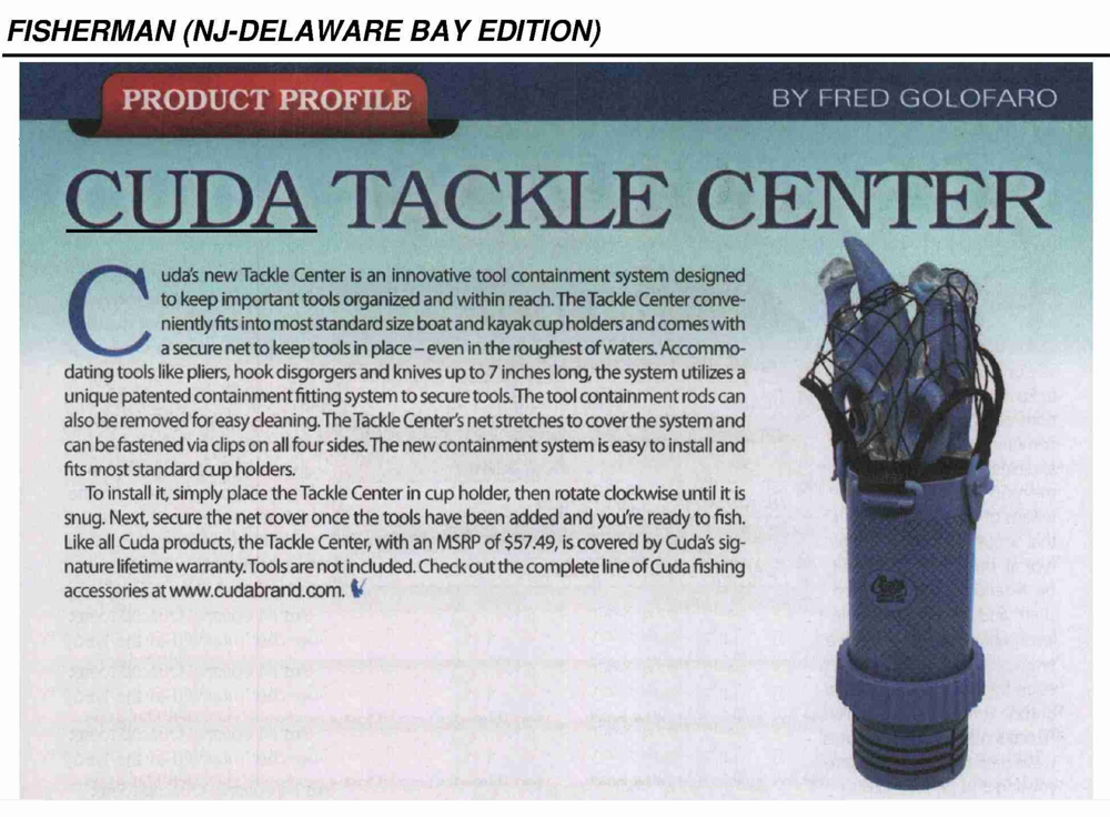 Cuda Tackle Center - Featured in the April issue of The Fisherman (New Jersey & Delaware Bay Edition), 1 April 2018