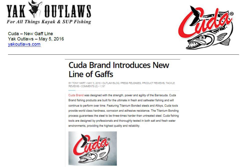 Cuda Brand introduces new line of Gaffs