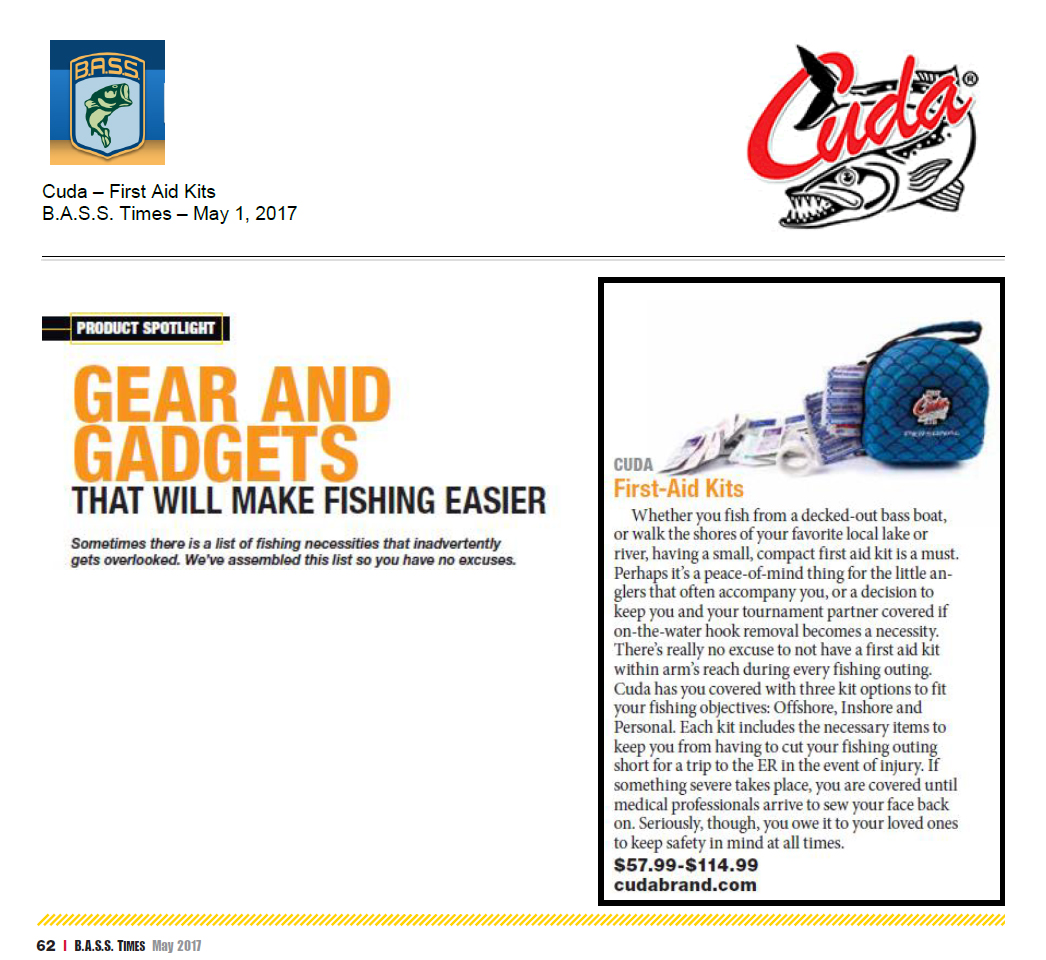 Gear and Gadgets - Featured in B.A.S.S. Times – May 1, 2017