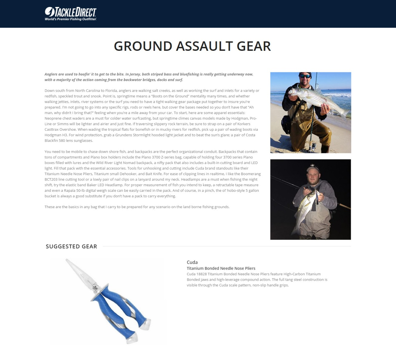 Ground Assault Gear - Featured in TackleDirect Blog