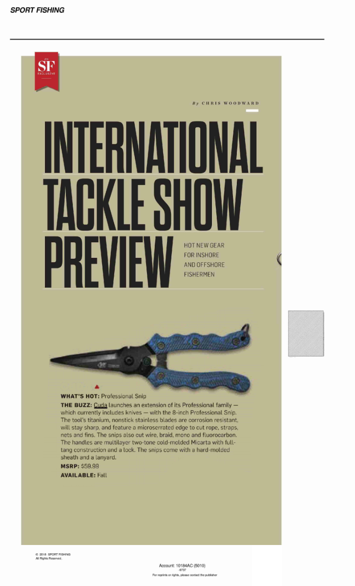 International Tackle Show Preview - Featured in Sport Fishing