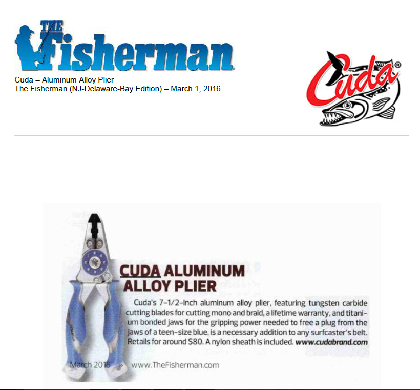 Featured in The Fisherman magazine March 01, 2016