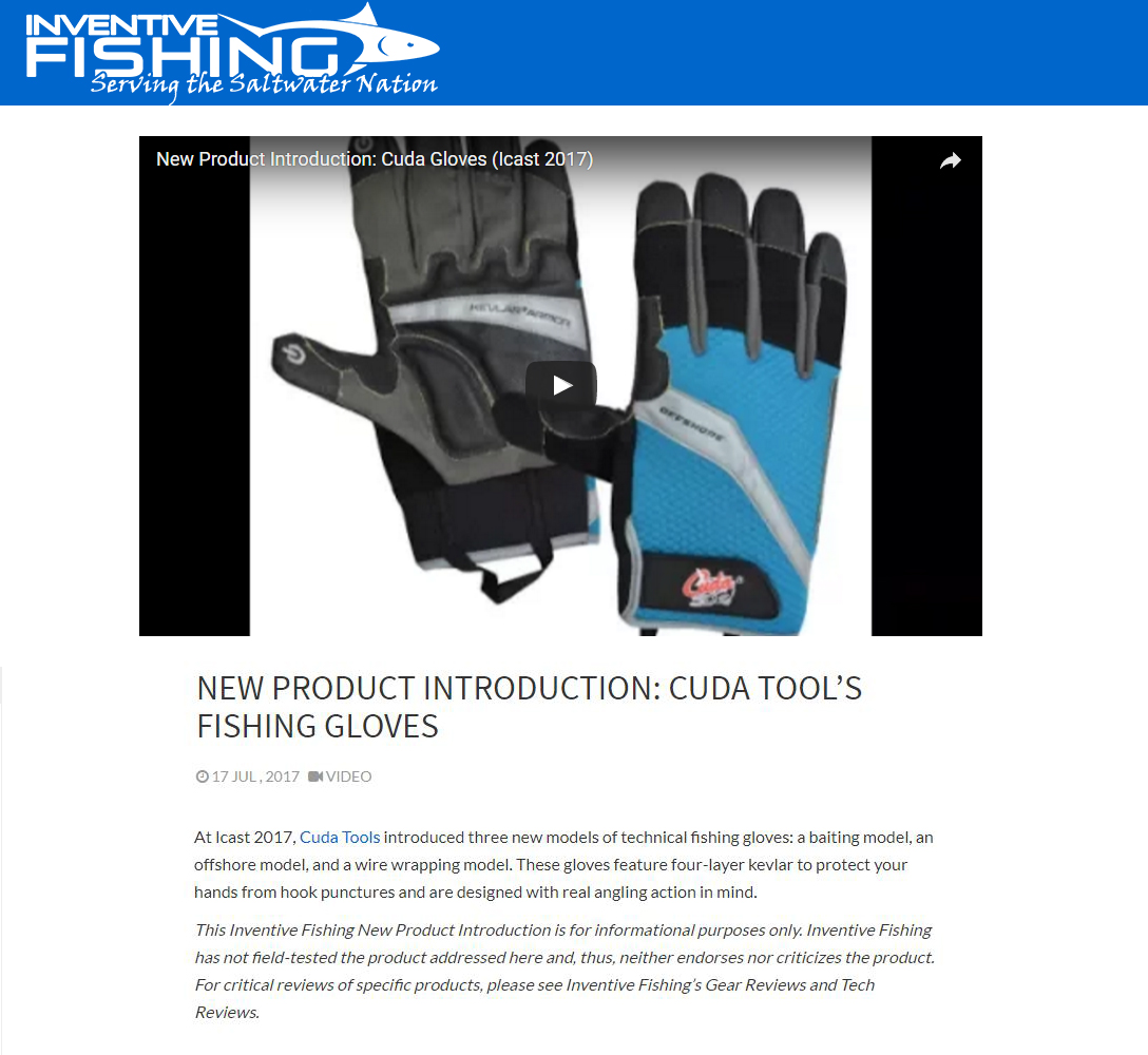 New Cuda Product Introduction - featured in inventivefishing.com