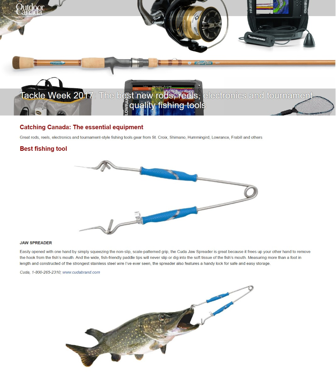 Best fishing tool - Featured in outdoorcanada.ca Tackle Week 2017