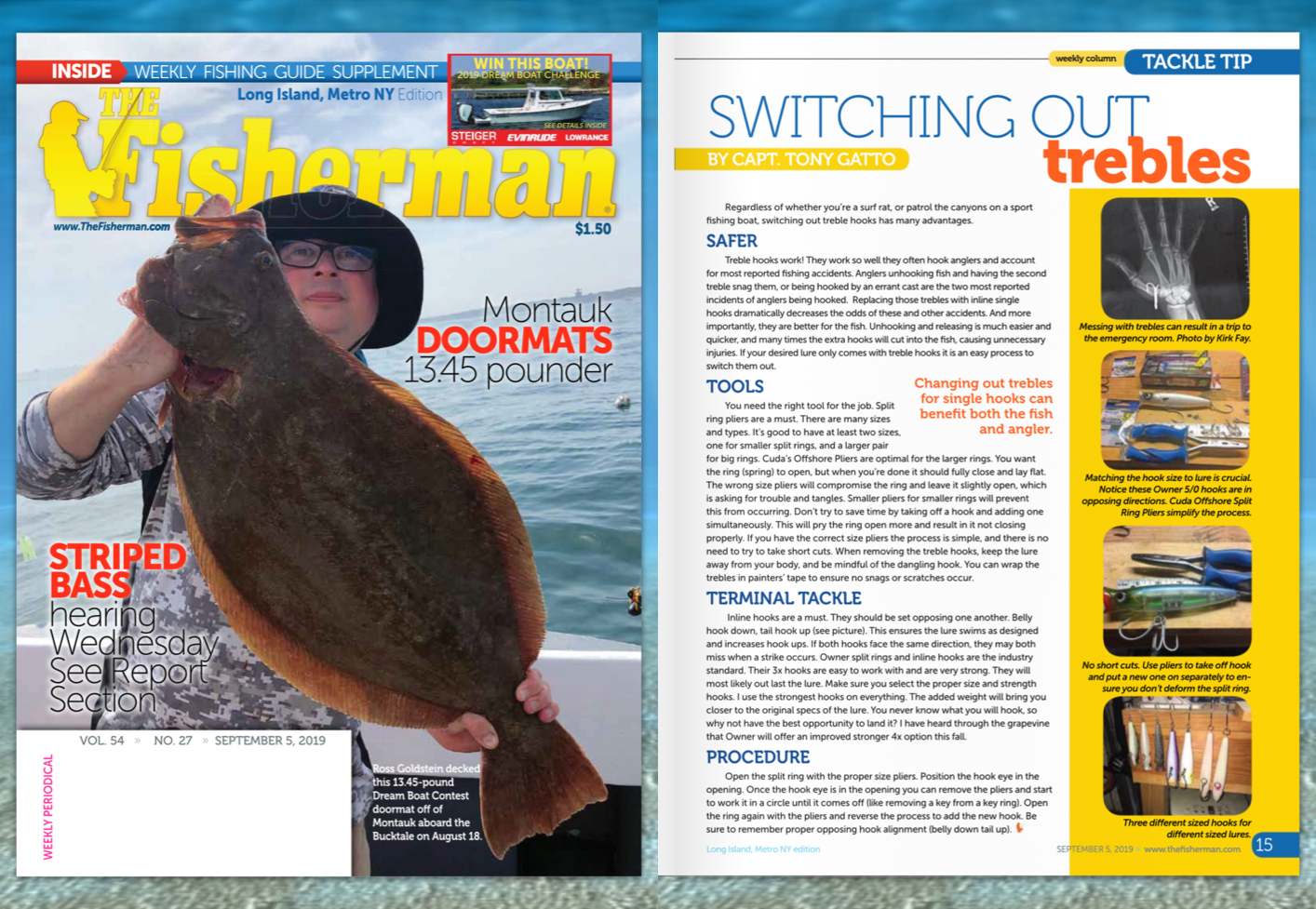 Switching Out Trebles- Featured in Fisherman September 5, 2019