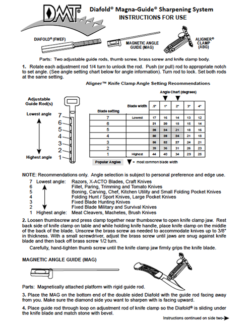 Diafold® Magna-Guide Instructions