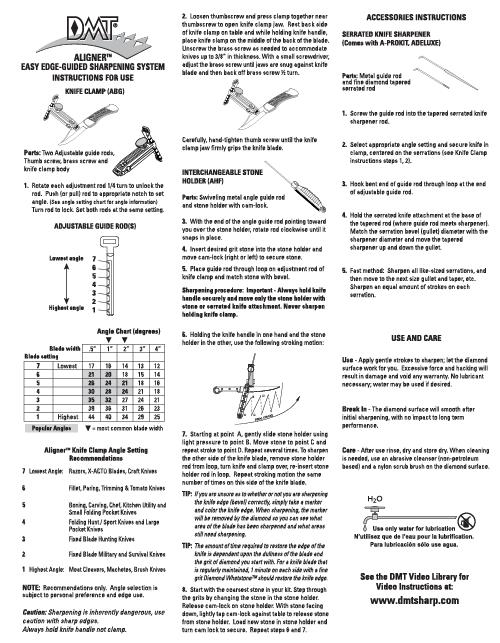 Aligner™ Easy Edge-Guided Instructions