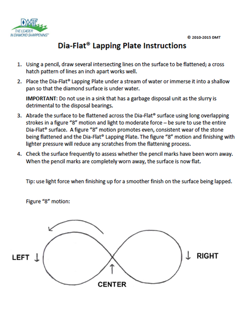 Dia-Flat® Lapping Plate Instructions