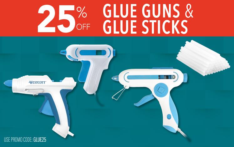 25% Glue Gun and Glue Sticks