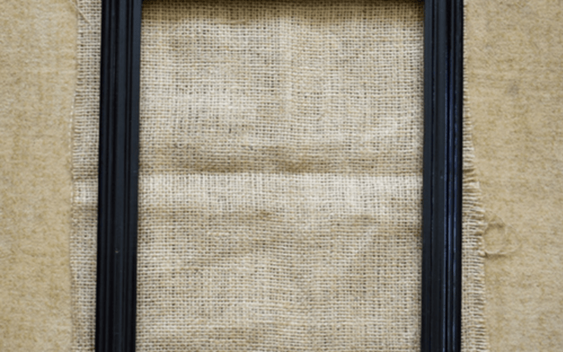 Burlap Accessories Holder